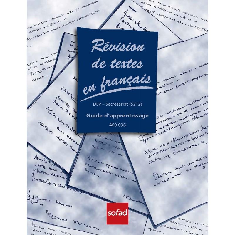 460-036 – Révision de textes en français