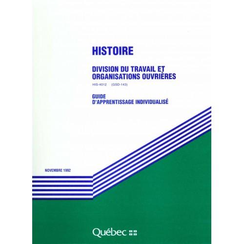 HIS-4012-2 - Division du travail et organisations ouvrières