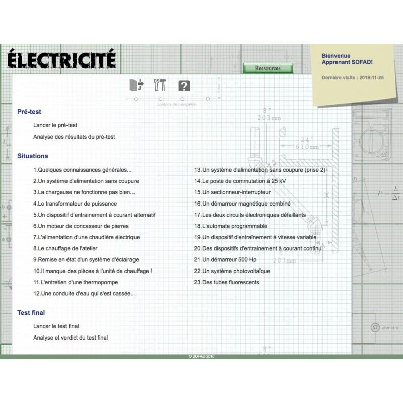 Certificat en électricité (CE)