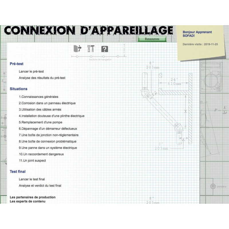 Certificat en connexion d'appareillage (CRCA)
